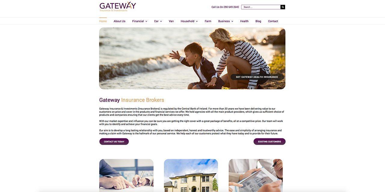 Gateway Insurance Brokers | Web Design