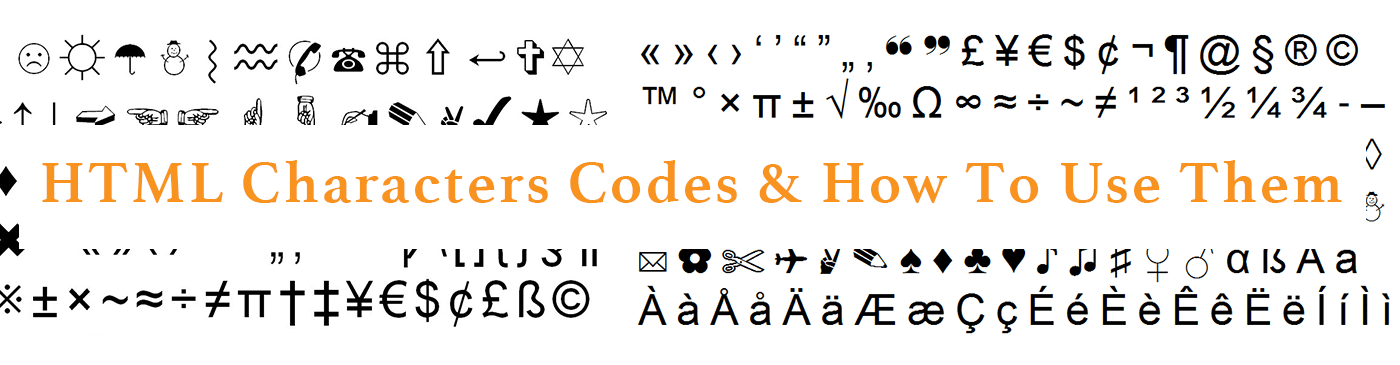 HTML Characters Codes & How To Use Them - True Design