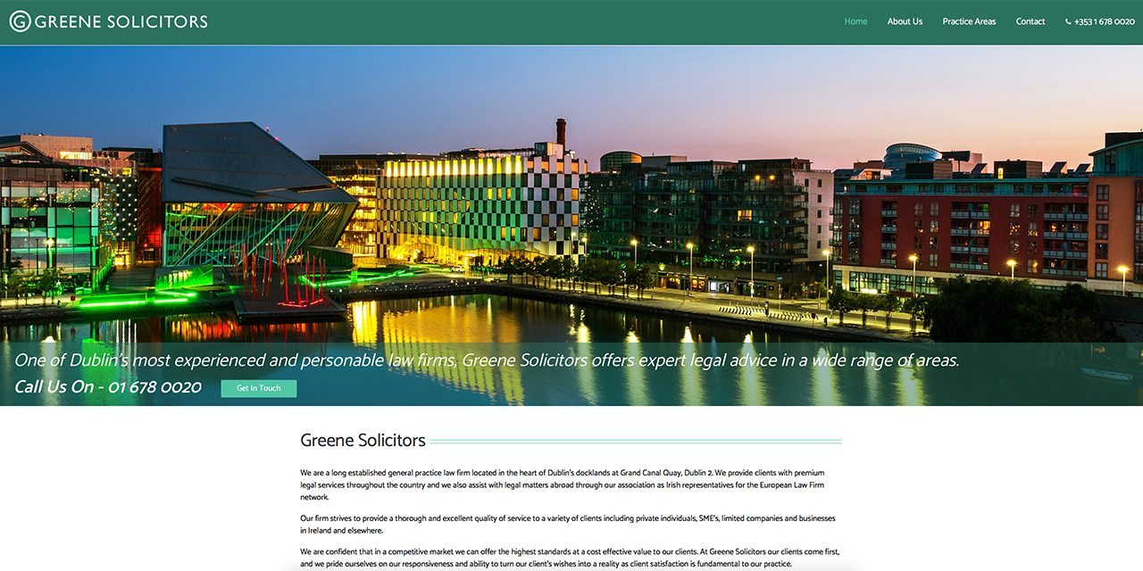 Greene Solicitors - Site Design By True Design