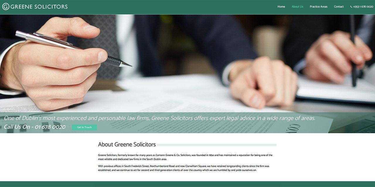 Greene Solicitors - Site Design By True Design
