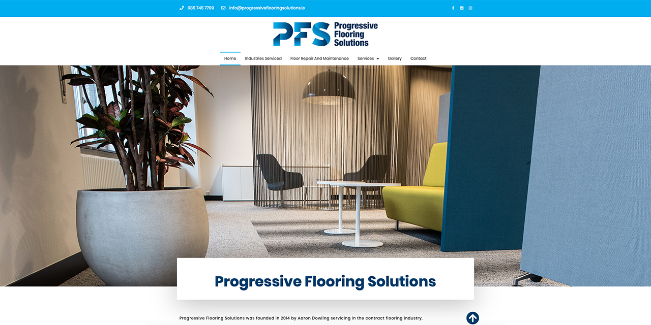 Progressive Flooring Solutions - Web Design by True Design